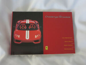 2003 Ferrari Challenge Stradale Owner's Manual Owners