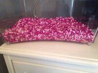 Pink and purple fish tank gravel