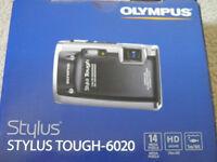 Olympus Stylus Tough waterproof camera- Used once- like new