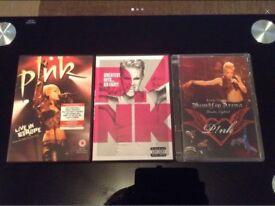 Pink Concert & Music DVD's