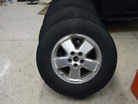 Four BFG Winter Slalom Tires and Rims