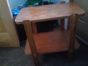 antique tv-night stand table