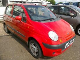 2002 Daewoo Matiz SE+ Only 46K Long Mot 5Dr Red low Ins New Cambelt Kit VGC