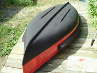 square back canoe with electric motor