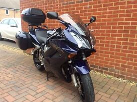 Honda VFR800 Vtech with full luggage