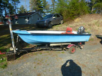 Open fiberglass boat with or without motor