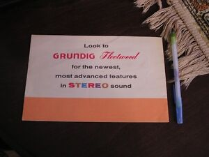 Vintage brochure- Grundig Fleetwood Self-Contained Stereo West Island Greater Montréal image 7