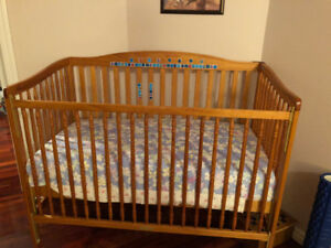 Crib baby bed with mattress