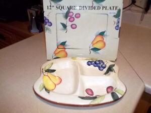 Assiette divisée carré