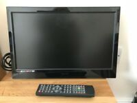 Small hd tv with integrated DVD player wall mounted