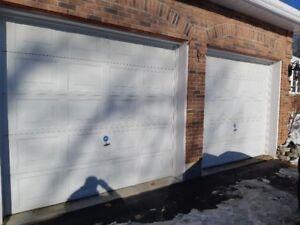 Two Garage Doors 108 x 98