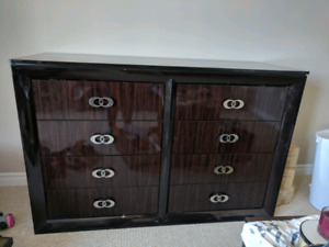 Large dresser with mirror, 2 end tables