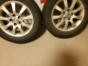 4 Factory Lexus Rims on Tires SOLD