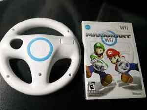 Mario Kart  with wheel ,  for Wii Complete in box with manual