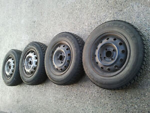 Set of 4 Goodyear Nordic P195/60/15 tires + 4x114 Rims Only$199