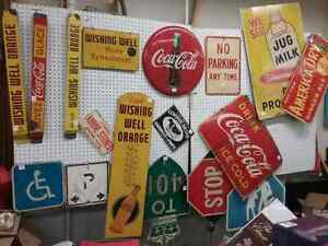 Nostalgia signs, tins just in at One Of A Kind Antique Mall