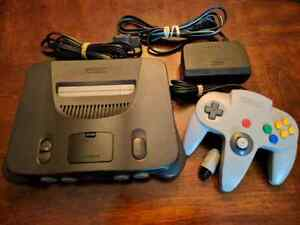 Nintendo 64 system with controller