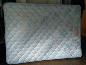 Double Bed Mattress, box spring and bed frame