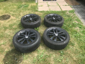 2017 Black 16 inch Volkswagen rims with brand new tires