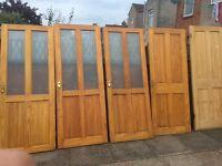 Pine internal wooden doors x5