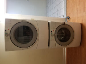 """Whirlpool white 27"""" frontload washer electric dryer stackable"""