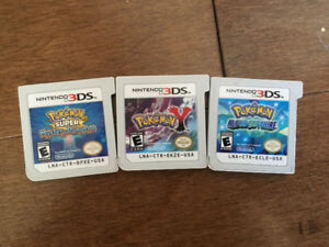 Three 3Ds Pokémon Games