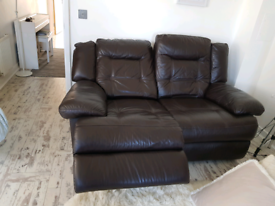 Leather Recliner 2 seat Sofa