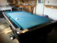 COIN OPERATED POOL TABLE FOR SALE OR TRADE