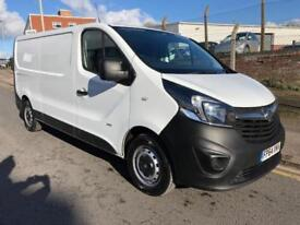 2015 64 Vauxhall Vivaro 1.6 CDTI 115 LWB 2900 New Shape White Van NO VAT