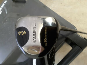 The Hammer 3 wood, MRH, graphite, $10, new/never used