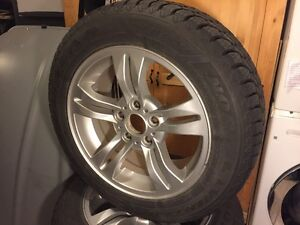 Original BMW X3 2005-2010 Mags with GoodYear Nordic winter Tires