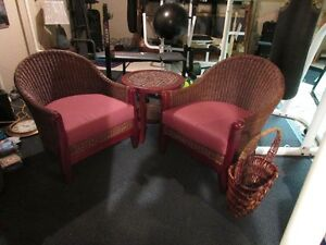Solid Wood with Rattan chair set with table and magazine rack