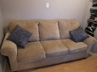 Beige Sofa and Love Seat Set