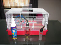 Rodent cage with accessories