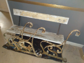 Victorian raw iron bench end