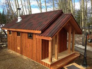 Cedar lumber products.