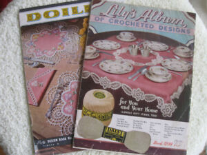 TWO OLD VINTAGE ['50's] LILY'S CROCHET DESIGN PATTERN BOOKS