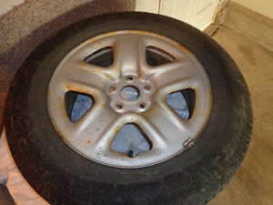 225/65R17 101H TOYO A20 OPEN COUNRTY ALL SEASON WITH RIM Edmonton Edmonton Area image 4