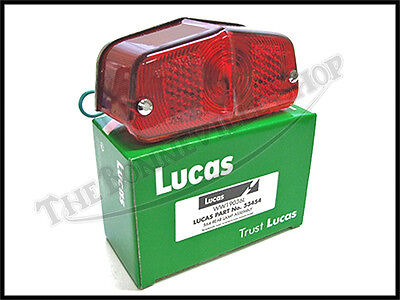 GENUINE LUCAS TRIUMPH NORTON BSA TAIL LIGHT TYPE 564 PN# 53454 G 53432 99-0595
