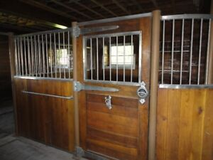 *** Salvaged.  Custom Horse Stalls. Oak and Stainless Steel ***
