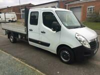 2016 Vauxhall Movano 2.3 CDTI H1 Crew Cab Dropside 125ps CHASSIS CAB Diesel Manu