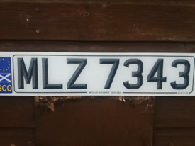 Private plate