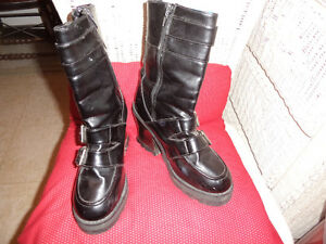 vintage boots, faux leather , exc cond. size 7-20.00
