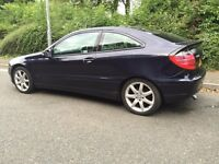 2002 MERCEDES C220 CDI -- COUPE -- SERVICE HISTORY -- SPARES OR REPAIR -- LONG MOT £640