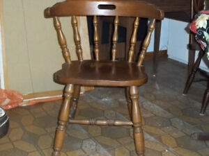 Chairs,  stools, sewing machine cabinet