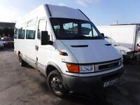 IVECO DAILY 40C13 3.9M-15 17 SEAT BUS CW COIF, White, Auto, Diesel, 2004
