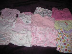 6 sleepers and 8 onesies size 0 to 3 months