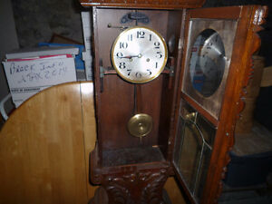 Antique hall clock