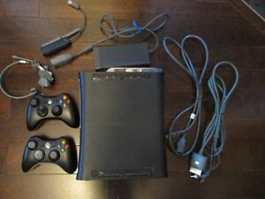 X BOX 360 ELITE 120GB with over 50 GAMES ON HARD DRIVE