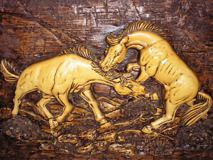 Vintage Horse Wall Plaque